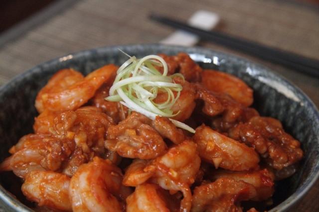 Spicy walnut shrimp