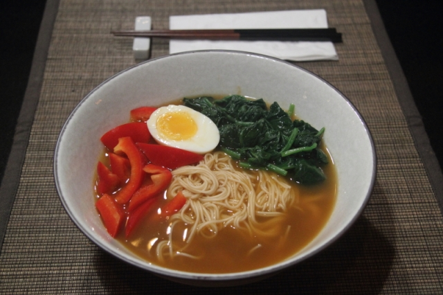 Somen with vegetables