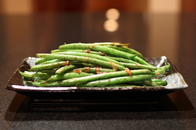 Green beans with Tianjin preserved vegetable
