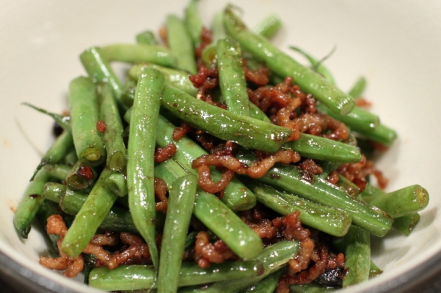 Green beans with ground pork