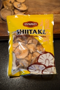 Dried black (shiitake) mushrooms