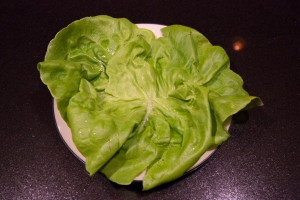 Lettuce, ready to assemble the final dish
