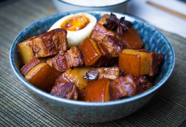 Red-braised pork belly