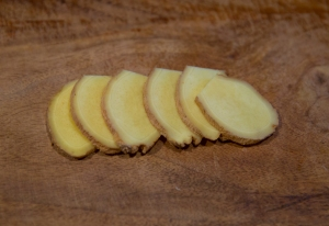"One inch of ginger, unpeeled, cut into ""coins"""