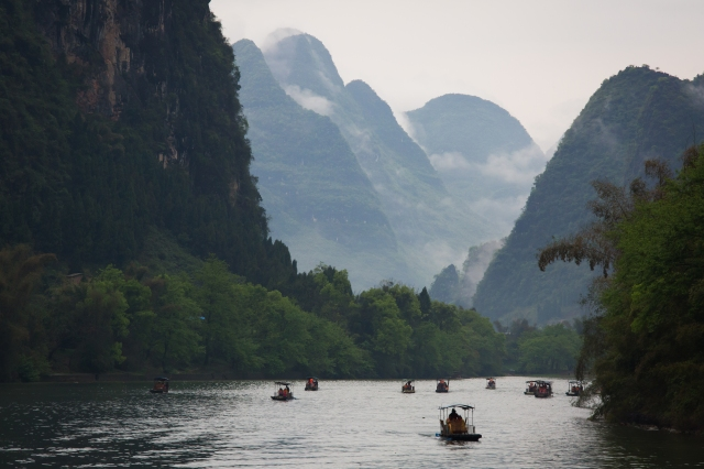 On the Li river, between Guilin and Yangshuo