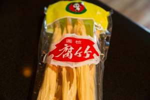 Dried tofu skins in their package
